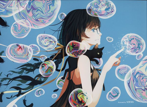 Tags: Anime, Vofan, Monogatari, Hanekawa Tsubasa, Scan, Official Art