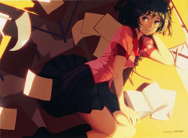 Tags: Anime, Vofan, Shaft (Studio), Monogatari, Hanekawa Tsubasa, Monogatari - End Cards, End Cards, Scan, Official Art