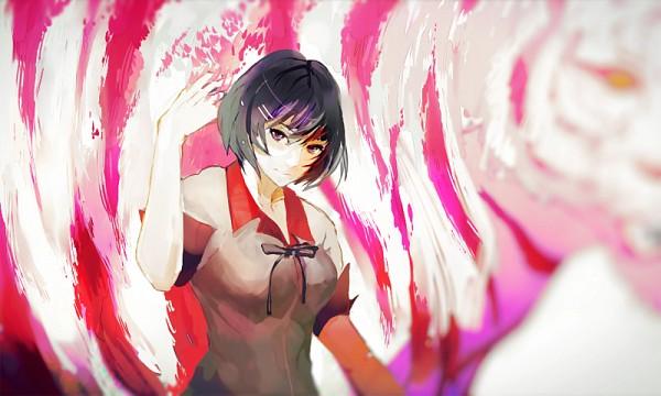Tags: Anime, Iyumekai, Nisemonogatari, Monogatari, Hanekawa Tsubasa, Pixiv, Fanart From Pixiv, Fanart, PNG Conversion