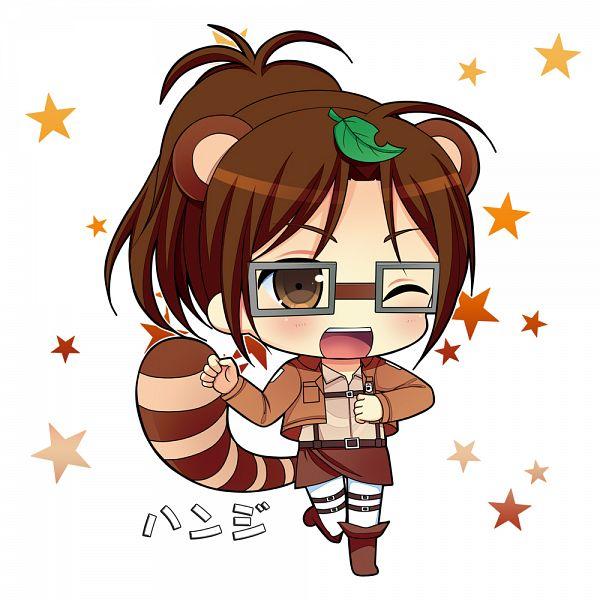 Tags: Anime, Narumiya Koneko, Attack on Titan, Hange Zoë, Leaf On Head, Object On Head, Hanji Zoé