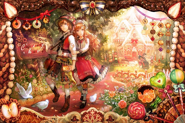Tags: Anime, Chibi (Shimon), Hansel and Gretel, Gretel, Hansel, Detailed, Pixiv