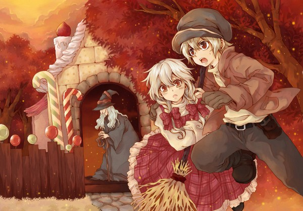 Tags: Anime, Hansel and Gretel, Hansel, Gretel, Candy Cane, Gingerbread House, deviantART