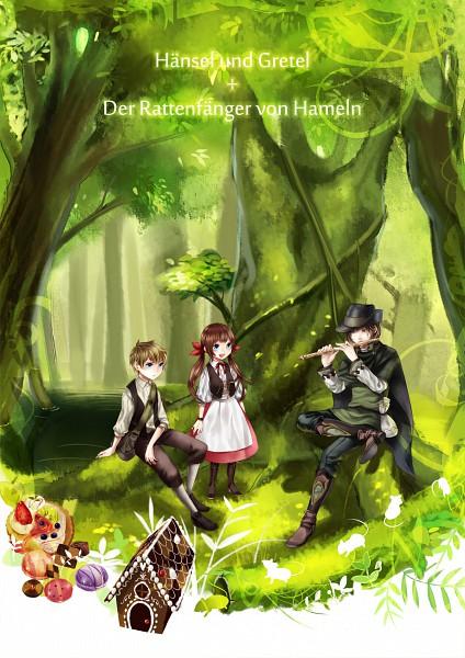 Tags: Anime, Guruusha, Hansel and Gretel, Hansel, Gretel, Gingerbread House, Mobile Wallpaper