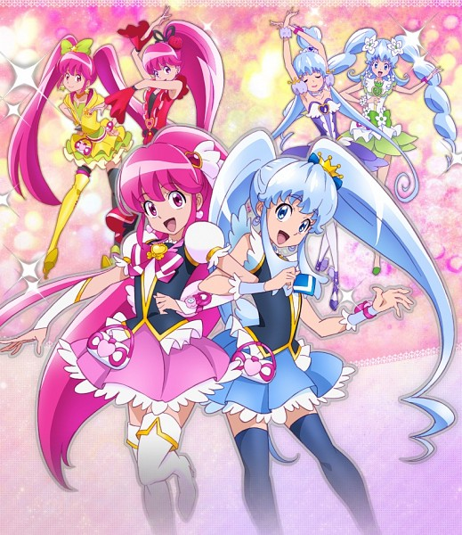 Tags: Anime, Satou Masayuki, HappinessCharge Precure!, Shirayuki Hime, Cure Princess, Flamenco, Sherbet Ballet, Official Art, Macadamia Hula-dance, Lollipop Hiphop, Cherry Flamenco