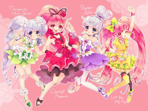 Tags: Anime, Uduki Shi, HappinessCharge Precure!, Cure Princess, Cure Lovely, Shirayuki Hime, Aino Megumi, Flamenco, Ballerina Outfit, Flower Skirt, Cherry Flamenco, Sherbet Ballet, Pixiv