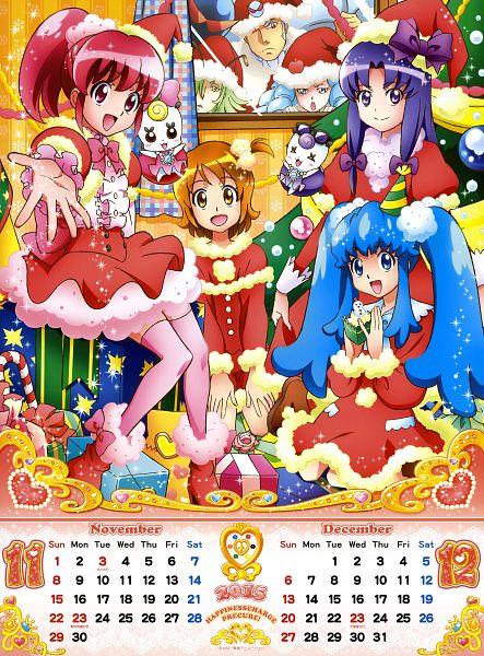 Tags: Anime, Satou Masayuki, HappinessCharge Precure!, HappinessCharge Precure! 2015 Calendar, Namakeruda, Glasan, Oumori Yuuko, Hikawa Iona, Shirayuki Hime, Oresukii, Ribbon (Pretty Cure), Aino Megumi, Hosshiiwa