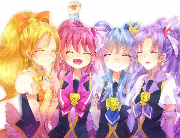 Tags: Anime, Pixiv Id 2107061, HappinessCharge Precure!, Aino Megumi, Cure Honey, Hikawa Iona, Cure Fortune, Cure Princess, Oumori Yuuko, Cure Lovely, Shirayuki Hime, Fanart From Pixiv, Pixiv