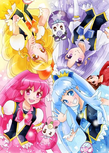 Tags: Anime, Pixiv Id 12003833, HappinessCharge Precure!, Cure Fortune, Cure Princess, Sagara Seiji, Oumori Yuuko, Cure Lovely, Glasan, Shirayuki Hime, Cure Honey, Hikawa Iona, Aino Megumi