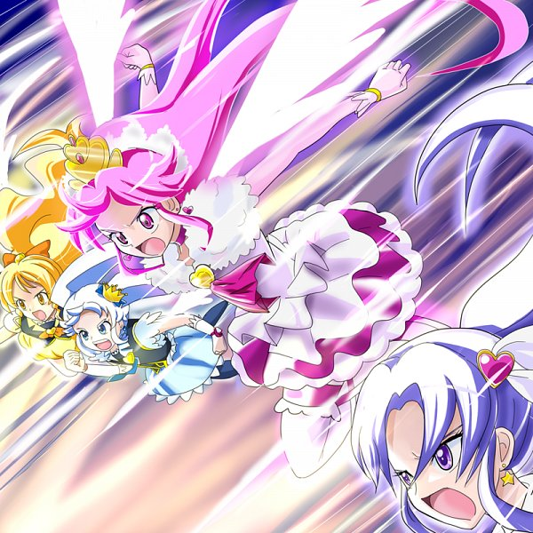 Tags: Anime, Aitaso, HappinessCharge Precure!, Cure Fortune, Cure Princess, Oumori Yuuko, Cure Honey, Shirayuki Hime, Super Happiness Lovely, Aino Megumi, Hikawa Iona, Ballerina Outfit, Ballet