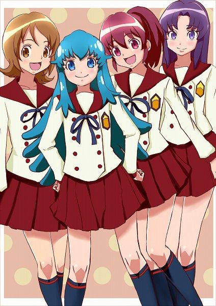 Tags: Anime, Amawa Kazuhiro, HappinessCharge Precure!, Hikawa Iona, Oumori Yuuko, Shirayuki Hime, Aino Megumi, Fanart From Pixiv, Pixiv, Fanart