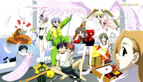 Tags: Anime, Studio Hibari, Happy Lesson, Chitose Hitotose, Yazakura Hazuki, Ninomai Kisaragi, Yayoi Sanzenin, Togakushi Kanna, Ichimonji Mutsuki, Rokumatsuri Minazuki, Gokajo Satsuki, Nanakorobi Fumitsuki, Shitenno Uzuki