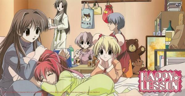 Tags: Anime, Happy Lesson, Shitenno Uzuki, Yayoi Sanzenin, Ninomai Kisaragi, Ichimonji Mutsuki, Gokajo Satsuki, Rokumatsuri Minazuki, Wallpaper, Official Art