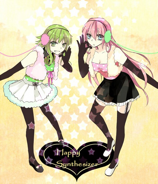 Tags: Anime, Pixiv Id 1030903, VOCALOID, GUMI, Megurine Luka, Happy Synthesizer