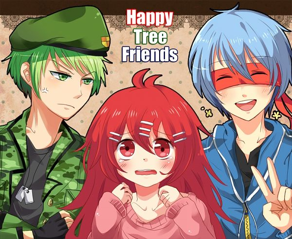 Tags: Anime, Pixiv Id 1607426, Happy Tree Friends, Pixiv, Fanart, PNG Conversion