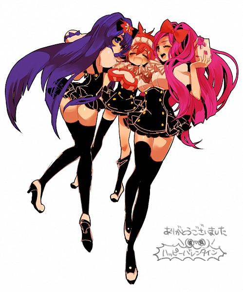 Tags: Anime, Chino Machico, Happy Tree Friends, Giggles (HTF), Petunia (HTF), Flaky, Chocolate Box, Fanart
