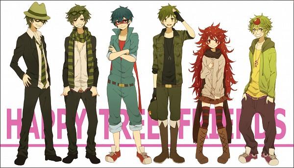 Tags: Anime, Kina58, Happy Tree Friends, Nutty, Flippy, Flaky, Shifty, Splendid (HTF), Lifty, Chucks (Shoes), Pixiv, PNG Conversion, Fanart