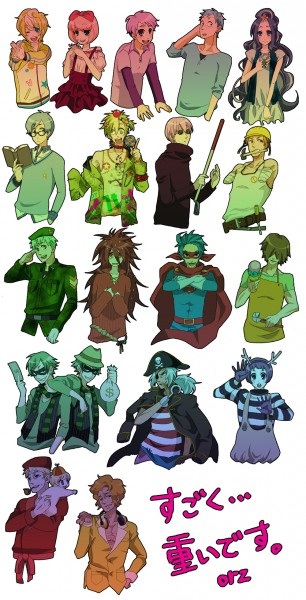 Tags: Anime, Kurara, Happy Tree Friends, Handy, Giggles (HTF), Cuddles (HTF), Disco Bear, Splendid (HTF), Nutty, Flippy, Shifty, Mime (HTF), Russell