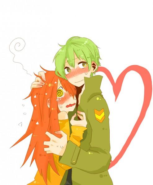 Tags: Anime, Mo Kon, Happy Tree Friends, Flippy, Flaky, Swirls, Pixiv, Fanart