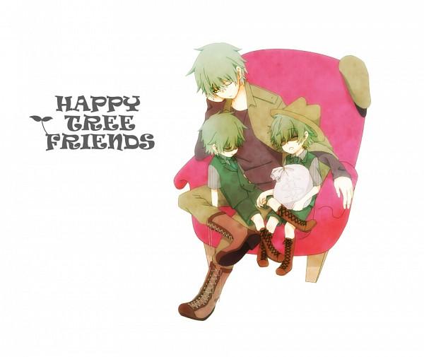 Tags: Anime, Uniikura, Happy Tree Friends, Flippy, Shifty, Lifty, Fedora, Fanart