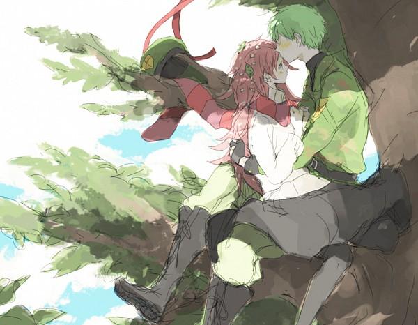 Tags: Anime, Tsuda, Happy Tree Friends, Flippy, Flaky, Fanart From Pixiv, Pixiv, Sketch, Fanart