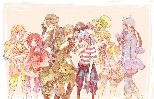Tags: Anime, Yue / 故, Happy Tree Friends, Flaky, Nutty, Splendid (HTF), Cuddles (HTF), Flippy, Russell, Pixiv