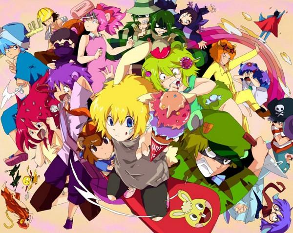 Tags: Anime, Happy Tree Friends, Mime (HTF), Nutty, Russell, Disco Bear, The Mole (HTF), Petunia (HTF), Toothy (HTF), Shifty, Lumpy, Flaky, Lifty