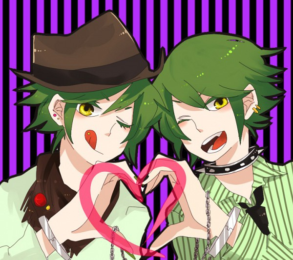 Tags: Anime, Mo Kon, Happy Tree Friends, Shifty, Lifty, Heart Gesture Duo, Fanart, Pixiv