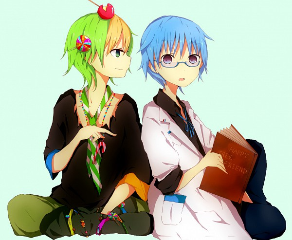 Tags: Anime, Saiban In Seido, Happy Tree Friends, Nutty, Sniffles (HTF), Candy Cane, Pixiv
