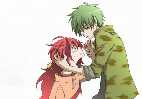 Tags: Anime, *Mihaya, Happy Tree Friends, Katekyo Hitman REBORN!, Flaky, Flippy, Flakes, Fanart