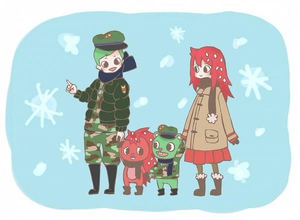 Tags: Anime, Happy Tree Friends, Flippy, Flaky