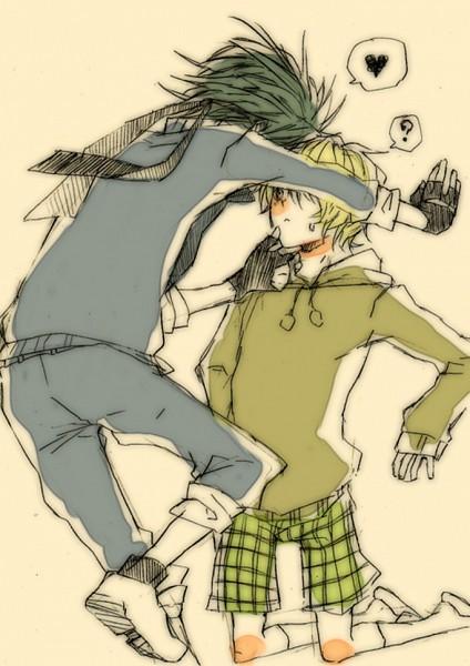 Tags: Anime, Happy Tree Friends, Lifty, Cuddles (HTF), Splendid (HTF), Mobile Wallpaper, Sketch