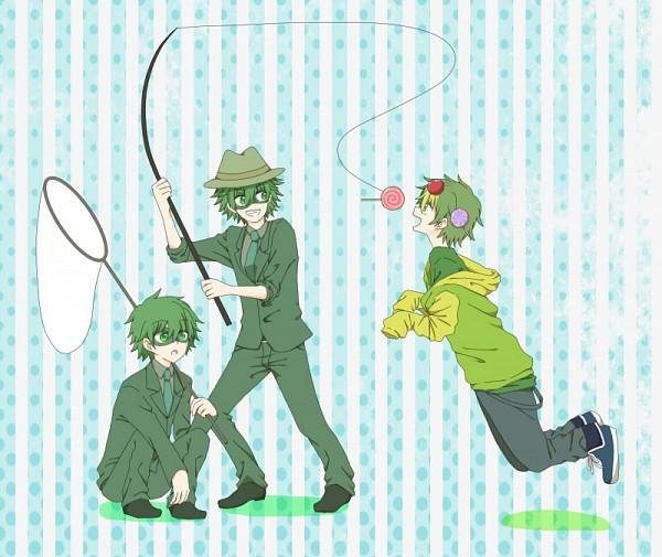 Tags: Anime, Uniikura, Happy Tree Friends, Lifty, Nutty, Shifty, Fishing Rod, Net, Fedora, Fanart