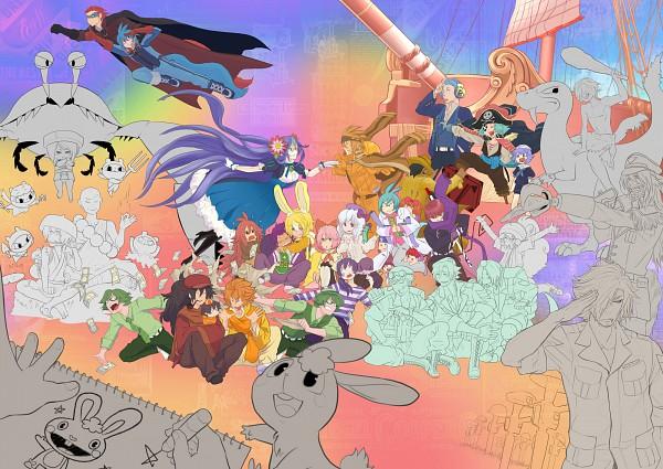 Tags: Anime, KAB00M CHUCK, Happy Tree Friends, Cuddles (HTF), Pop (HTF), Flaky, Handy, Giggles (HTF), Flippy, Disco Bear, Mouse Ka-boom, Splendid (HTF), Nutty