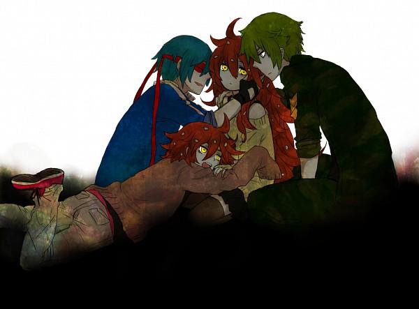 Tags: Anime, Pixiv Id 1776614, Happy Tree Friends, Splendid (HTF), Flippy, Flaky, Reverse Harem, Pixiv, Fanart