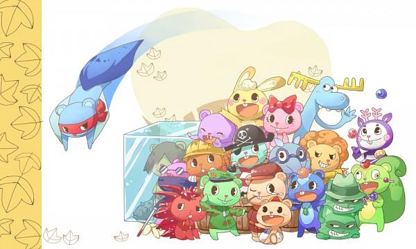 Tags: Anime, Yuu / 遊, Happy Tree Friends, Flaky, Handy, Giggles (HTF), Flippy, Disco Bear, Splendid (HTF), Nutty, Russell, Shifty, Mime (HTF)