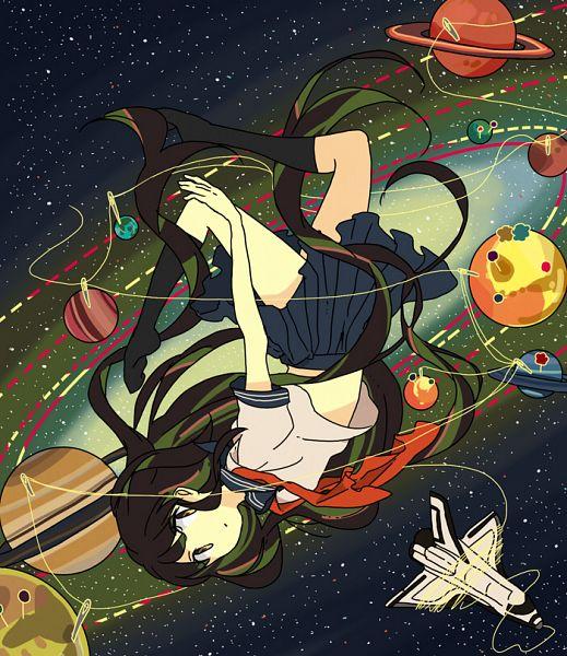 Tags: Anime, Hari (Pixiv2012188), Sewing, Dashed Line, Planet Mars, Flip, Planet Jupiter, Saturn, Planet Mercury, Galaxy, Spaceship, Pixiv, Original