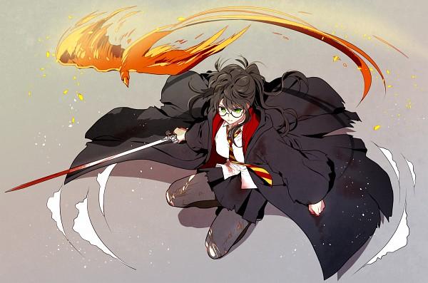 Tags: Anime, Pixiv Id 3536917, Harry Potter, Harry Potter (Character), Phoenix, Fanart From Pixiv, Fanart, Pixiv, Gryffindor House