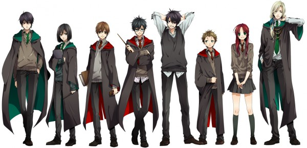Tags: Anime, Nakagawa Waka, Harry Potter, Sirius Black, Lucius Malfoy, Lily Evans, Severus Snape, James Potter, Regulus Black, Remus Lupin, Peter Pettigrew, V-neck, Chocolate Bar