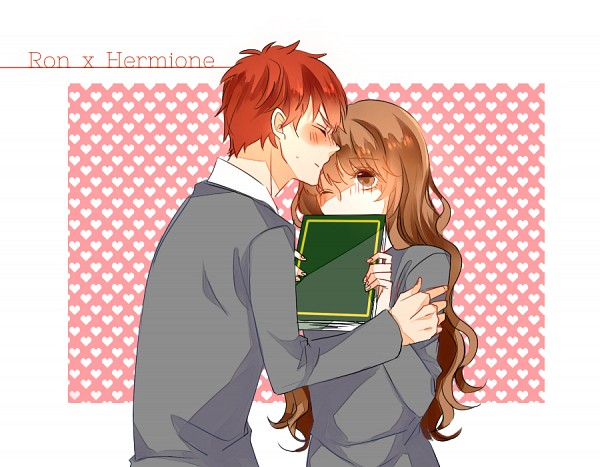 Tags: Anime, Pixiv Id 2679025, Harry Potter, Hermione Granger, Ron Weasley, Pixiv, Fanart From Pixiv, PNG Conversion, Fanart, Gryffindor House