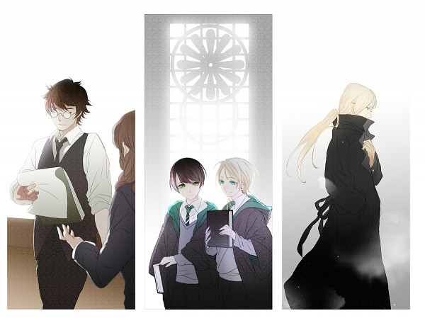 Tags: Anime, Ihirotang, Harry Potter, Harry Potter (Character), Albus Severus Potter, Scorpius Malfoy, Draco Malfoy, Fanart From Pixiv, Pixiv, PNG Conversion, Fanart