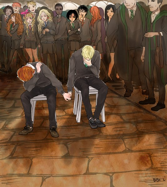 Tags: Anime, Pixiv Id 2822152, Harry Potter, Ron Weasley, Gregory Goyle, Fred Weasley, Lee Jordan, Draco Malfoy, Vincent Crabbe, George Weasley, Lavender Brown, Harry Potter (Character), Seamus Finnigan