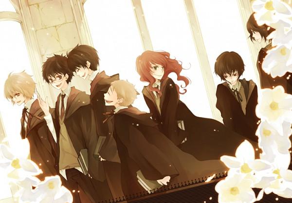 Tags: Anime, Tokiwa Hazy, Harry Potter, Hermione Granger, Remus Lupin, Regulus Black, Sirius Black, Peter Pettigrew, Lily Evans, Severus Snape, James Potter, Brown, V-neck