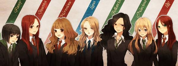 Tags: Anime, Kurosu Juu, Harry Potter, Lily Evans, Bellatrix Lestrange, Ginny Weasley, Narcissa Malfoy, Luna Lovegood, Pansy Parkinson, Hermione Granger, Pageboy Haircut, V-neck, Black Sweater