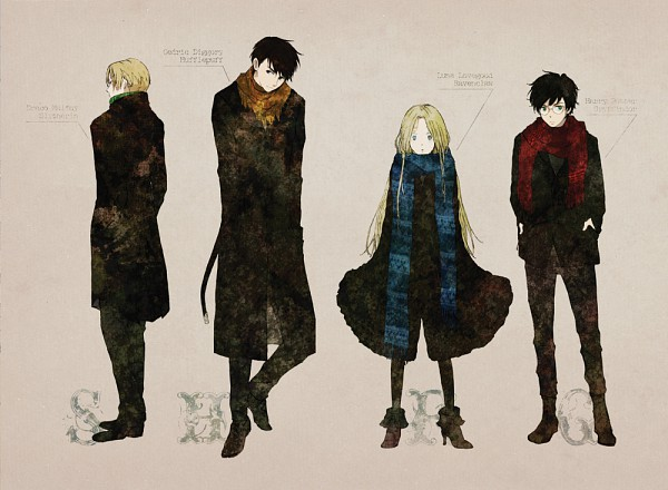 Tags: Anime, Pixiv Id 883680, Harry Potter, Draco Malfoy, Harry Potter (Character), Luna Lovegood, Cedric Diggory, Gryffindor House, Slytherin House, Ravenclaw House, Hufflepuff House
