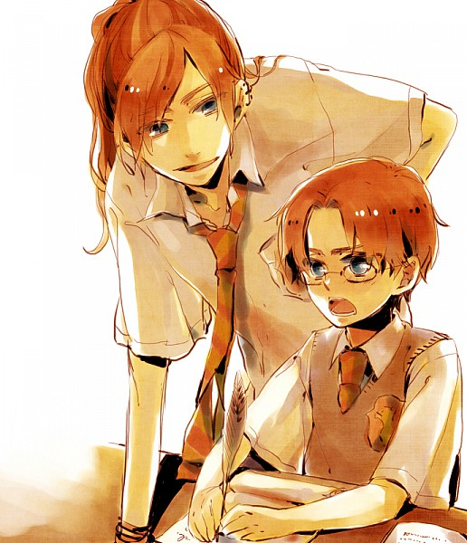 Tags: Anime, Childlock, Harry Potter, Percy Weasley, Bill Weasley, Harry Potter (Character), Charlie Weasley, Quill Pen, Emblem, Writing, Shota Percy, Gryffindor House, Weasley Family