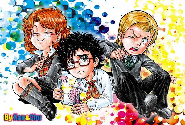 Tags: Anime, Harry Potter, Scorpius Malfoy, Rose Weasley, Albus Severus Potter, Potion, V-neck, Slytherin House, Gryffindor House