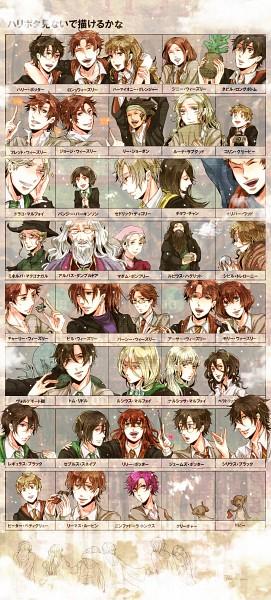 Tags: Anime, Pixiv Id 1452834, Harry Potter, Harry Potter (Character), Sirius Black, Percy Weasley, Arthur Weasley, Lee Jordan, Ginny Weasley, Lucius Malfoy, Nymphadora Tonks, Luna Lovegood, Neville Longbottom
