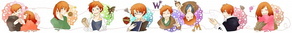 Tags: Anime, Harry Potter, George Weasley, Charlie Weasley, Ginny Weasley, Molly Weasley, Percy Weasley, Ron Weasley, Bill Weasley, Fred Weasley, Arthur Weasley, Weasley Family, Weasley Twins
