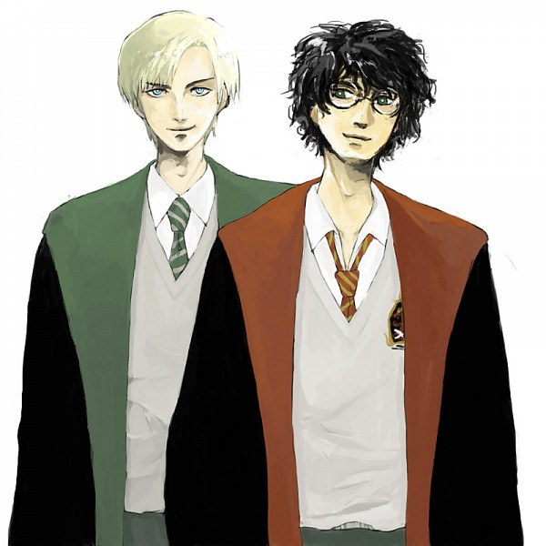 Tags: Anime, Pixiv Id 1278590, Harry Potter, Draco Malfoy, Harry Potter (Character), Gryffindor House, Slytherin House