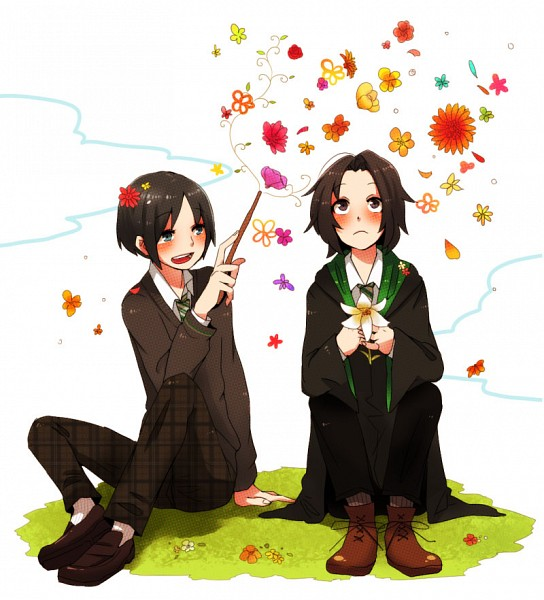 Tags: Anime, Mo Kon, Harry Potter, Severus Snape, Regulus Black, Ants, Pixiv, Fanart, Slytherin House